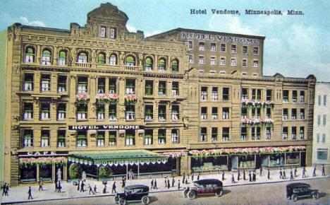 Hotel Vendome Minneapolis Minnesota 1915