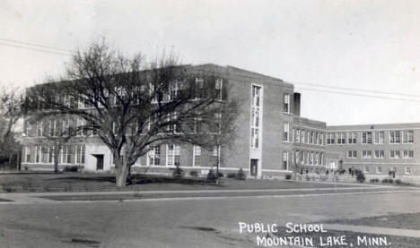 Public School, Mountain Lake Minnesota, 1940's