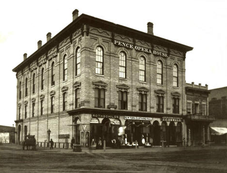 Pence Opera House, 2nd and Hennepin Avenue, Minneapolis Minnesota, 1870