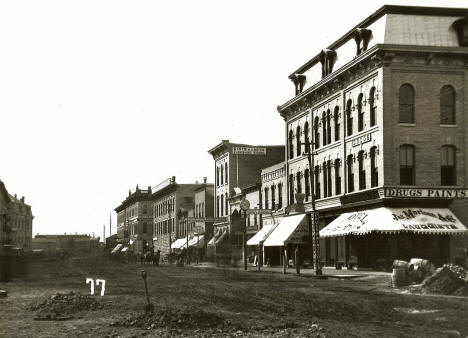 Washington Avenue from Nicollet, Minneapolis Minnesota, 1873