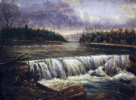 Western Side of the Falls of St. Anthony, Minneapolis Minnesota, 1848