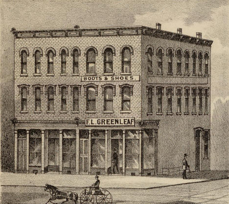 Williams Block, corner of Washington Avenue S and First Avenue S, Minneapolis Minnesota, 1874
