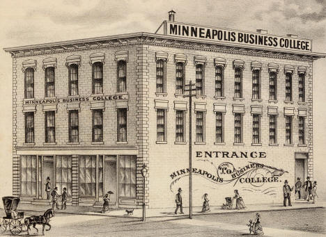 Minneapolis Business College, Minneapolis Minnesota, 1874