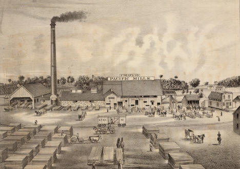 J Dean & Company's Pacific Mills, Minneapolis Minnesota, 1874