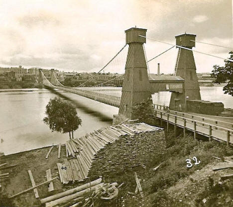 First Suspension Bridge, Minneapolis Minnesota, 1855
