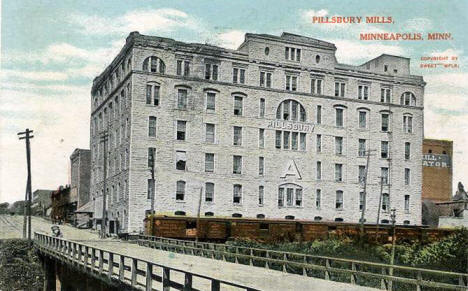 Pillsbury A Mill, Minneapolis Minnesota, 1907