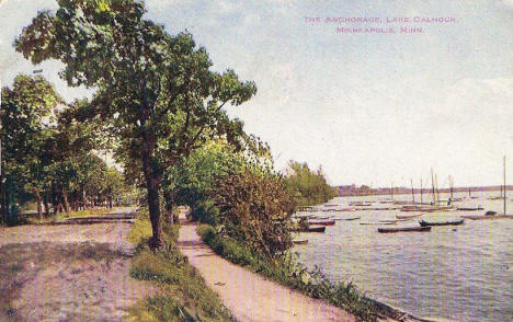 The Anchorage, Lake Calhoun, Minneapolis Minnesota, 1909