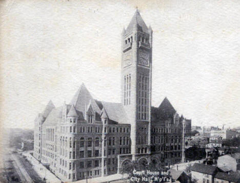 Court House and City Hall, Minneapolis Minnesota, 1900's