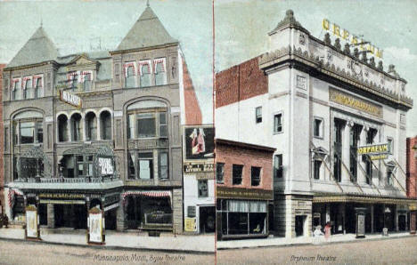 Bijou and Orpheum Theatres, Minneapolis Minnesota, 1907