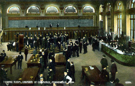 Trading Room, Chamber of Commerce (former name of the Grain Exchange), Minneapolis Minnesota, 1909