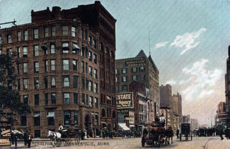 Hennepin Avenue, Minneapolis Minnesota, 1900's