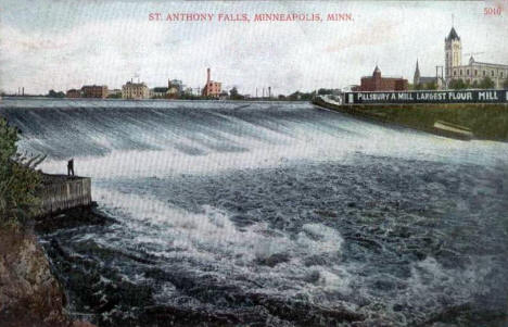 St. Anthony Falls, Minneapolis Minnesota, 1909