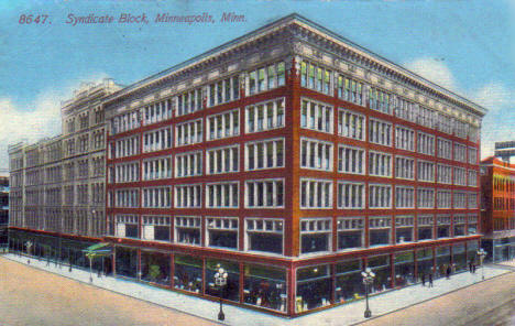 Syndicate Block, Minneapolis Minnesota, 1900's