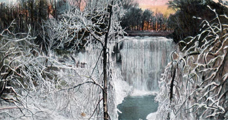 Minnehaha Falls in Winter, Minneapolis Minnesota, 1906