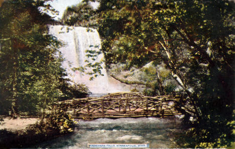 Minnehaha Falls, Minneapolis Minnesota, 1911