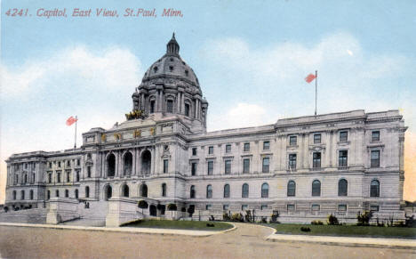 State Capitol, East View, St. Paul Minnesota, 1910's