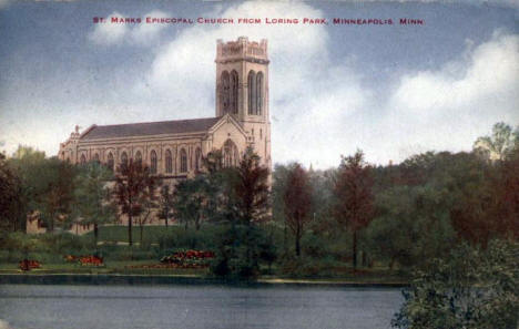 St. Mark's Episcopal Church from Loring Park, Minneapolis Minnesota, 1913