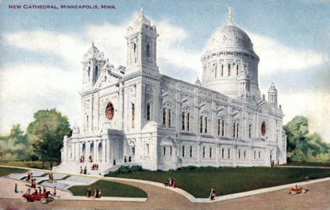 New Cathedral (Basilica), Minneapolis Minnesota, 1910