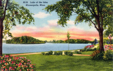 Lake of the Isles, Minneapolis Minnesota, 1938