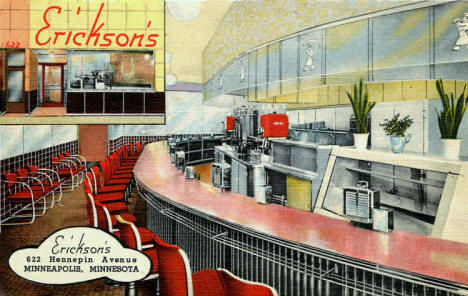Erickson's, 622 Hennepin Avenue, Minneapolis Minnesota, 1949