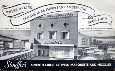 Stouffer's Restaurant, Minneapolis, 1948