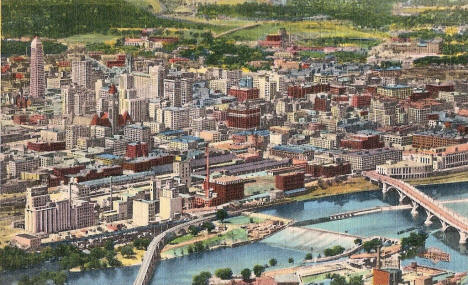 Downtown Minneapolis Minnesota, 1942