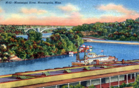 Mississippi River, Minneapolis Minnesota, 1940