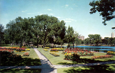 Flower Gardens, Loring Park, Minneapolis Minnesota, 1950's