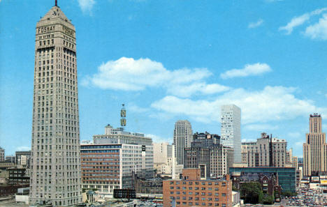 Downtown Minneapolis Skyline, late 1960's?