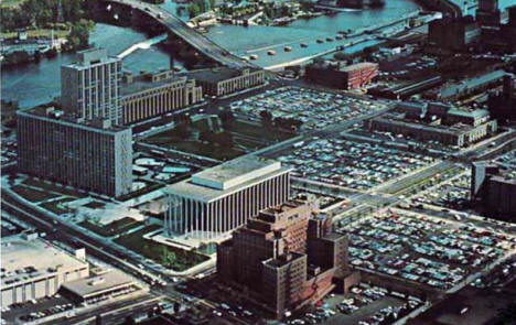 Aerial view, Gateway Renewal Area, Minneapolis Minnesota, 1960's