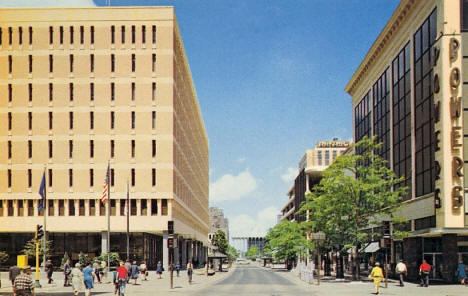 Nicollet Mall from 5th Street, Minneapolis Minnesota, 1970's