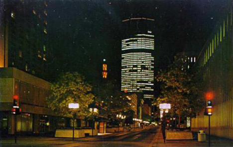 Nicollet Mall from 4th Street, Minneapolis Minnesota, 1970's