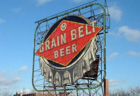 Historic Grain Belt Beer sign, Nicollet Island, Minnesota, 2008