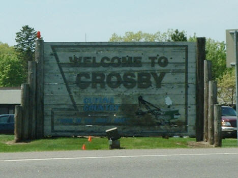 Crosby Minnesota Welcome Sign, 2007