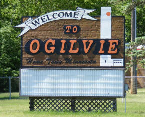 Ogilvie Minnesota Welcome Sign