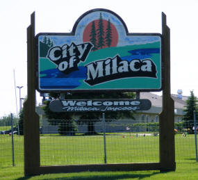 Milaca Minnesota Welcome Sign