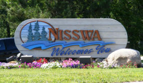 Nisswa Minnesota Welcome Sign
