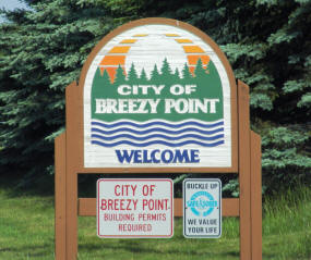 Breezy Point Minnesota Welcome Sign