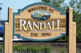 Randall Minnesota Welcome Sign