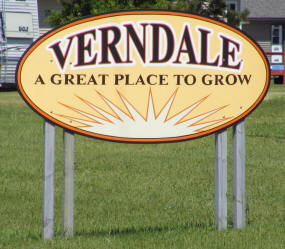Verndale Minnesota Welcome Sign