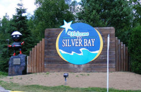 Welcome to Silver Bay Minnesota sign