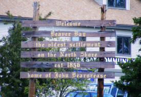 Beaver Bay Minnesota Welcome Sign