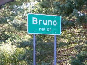 Bruno Minnesota Highway Sign