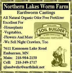 Northern Lakes Worm Farm, Embarrass Minnesota