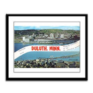 Greetings from Duluth Framed Panel Print
