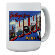 Greetings from Duluth Large Mug