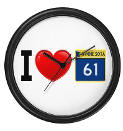 I Love Highway 61 Wall Clock
