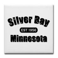 Silver Bay Established 1956 Tile Coaster