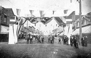 Oldest Known Picture of 4th of July in Eveleth Minnesota: 1907