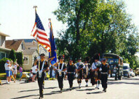 Scene from the 1998 Eveleth Minnesota 4th of July Parade